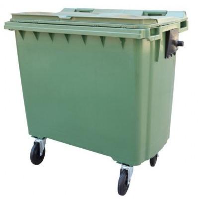 Plastový kontajner 660 l, hnedý