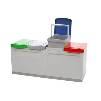 Odpadkový kôš na triedený odpad EKOMODUL 4x15 l