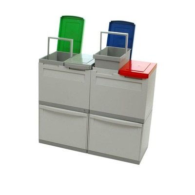 Odpadkový kôš na triedený odpad EKOMODUL 2x30 l + 4x15 l