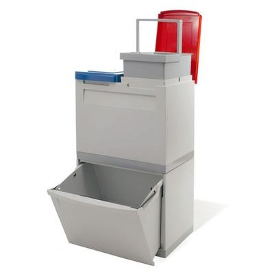 Odpadkový kôš na triedený odpad EKOMODUL 1x30 l + 2x15 l