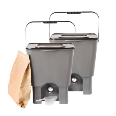 Domáci kompostér Bokashi, 18 l, 2 ks
