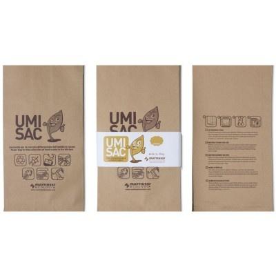 Papierové vrecká na kuchynský odpad UMISAC 10l
