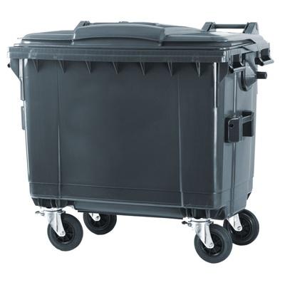 Plastový kontajner na komunálny odpad 660 l, čierny