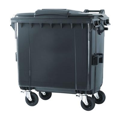 Plastový kontajner na komunálný odpad 770 l, čierny