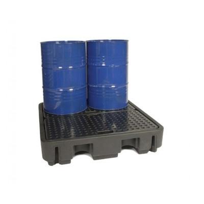 Záchytná vaňa pod štyri pod 200 l sudy (záchytný objem 250 l)