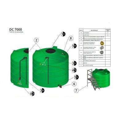 Nádrž na vodu a kvapaliny DC 7000 l
