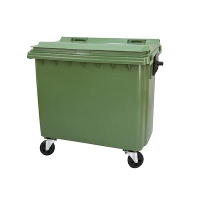 Plastový kontajner 1100 l s plochým vekom