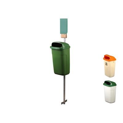 Odpadkový kôš CLASSIC 50 l so schránkou pre sáčky na psie exkrementy