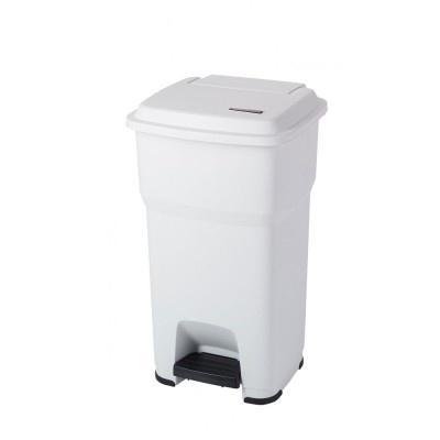 Odpadkový kôš Hera s pedálom - biela