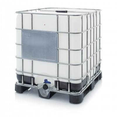 Nový IBC kontajner s plastovou paletou NW 150/50 (Schválenie OSN UN 31HA1/Y)