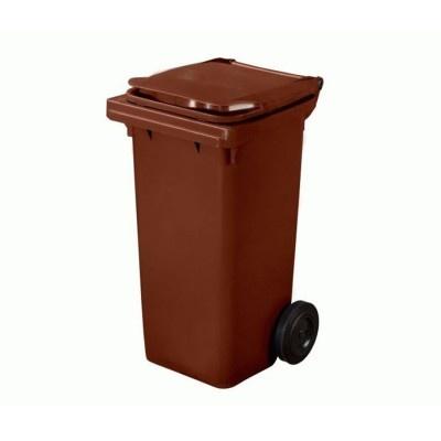 Plastová nádoba na odpad  ELKOPLAST 120 l - hnedá C