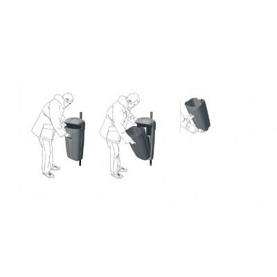 Vonkajší odpadkový kôš  CIBELES 50 l