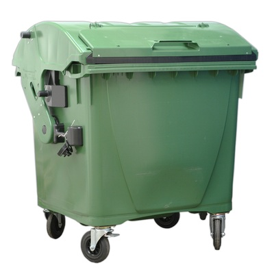 Plastový kontajner 1100 l veko vo veku, zelený