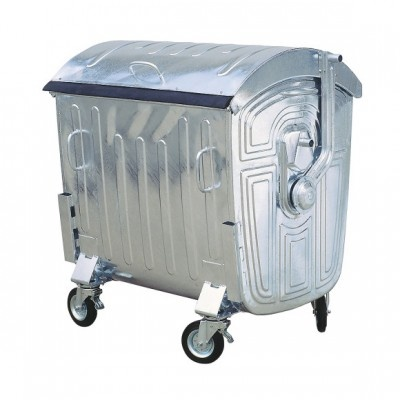 Plechový žiarovo zinkovaný kontajner 1100 litrov