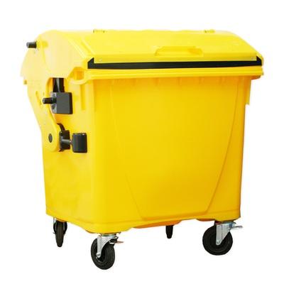 Plastový kontajner 1100 l veko vo veku, žltý