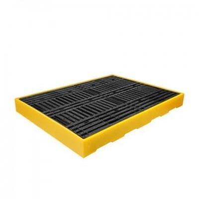 Záchytná podlaha pre 4 sudy žltá (záchytný objem 300 l)