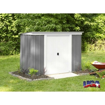 Záhradný domček ARROW PT 64 sivý