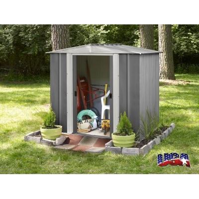 Záhradný domček ARROW DRESDEN 65 sivý