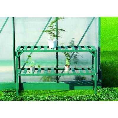 AL regál LANITPLAST 126x50 cm dvojpolicový zelený