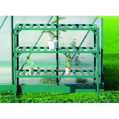 AL regál LANITPLAST 126x50 cm trojpolicový, zelený